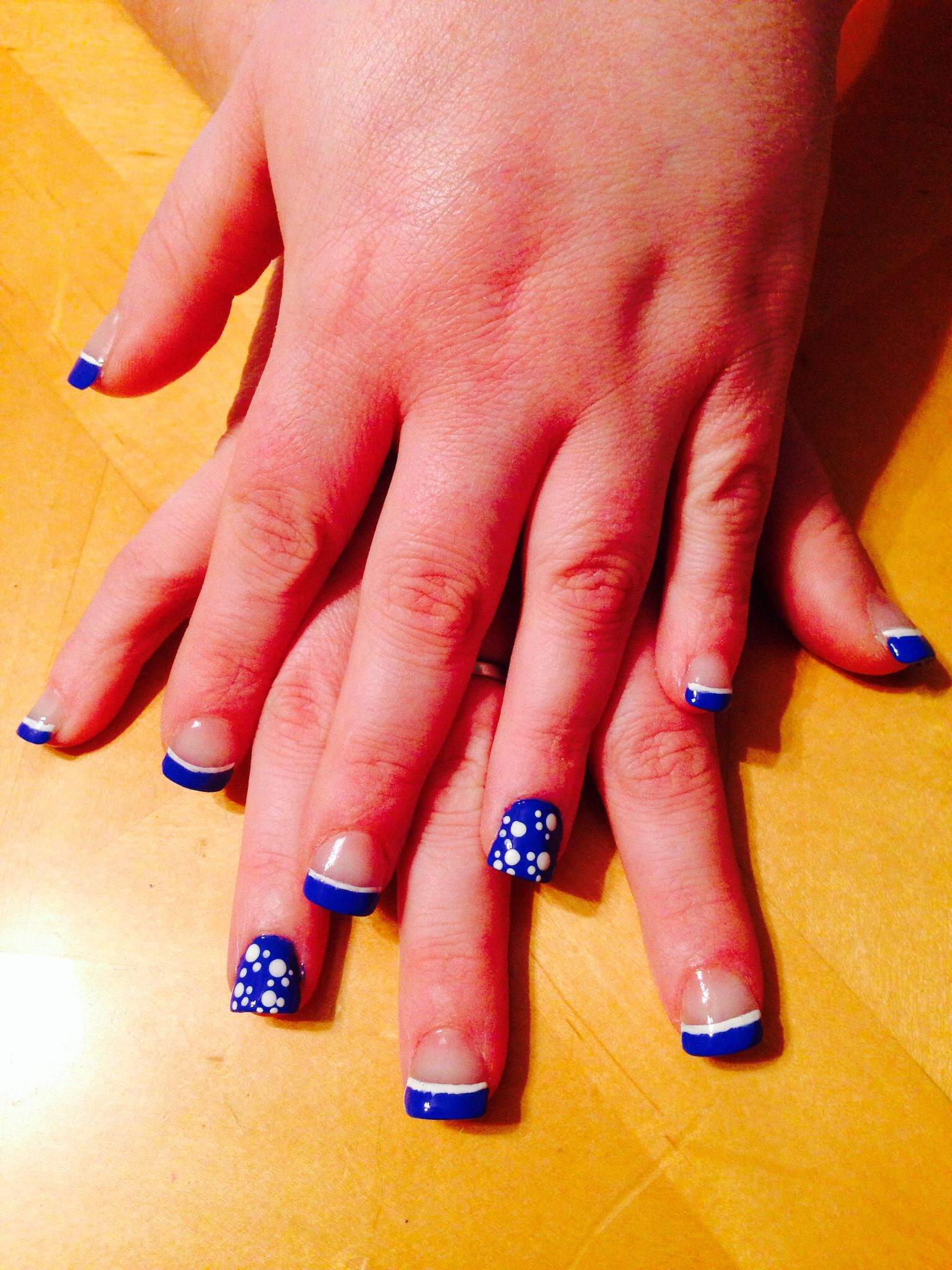 Kentucky wildcat nails ;) | Nails ;) | Pinterest | Kentucky, Uk ...