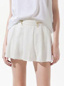Sexy Pleated Polyester Woman's Skirt