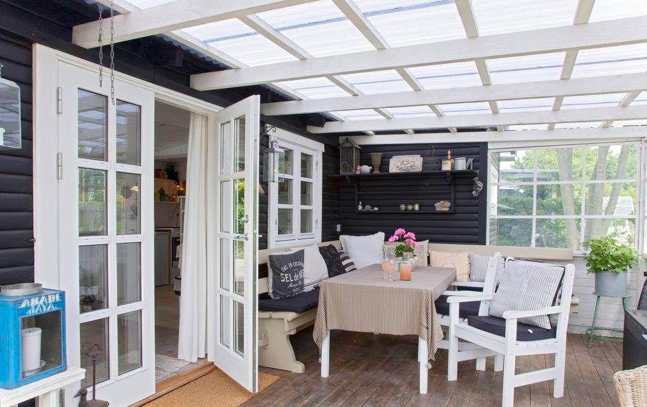 La casa de campo de la abuela en Dinamarca Porch