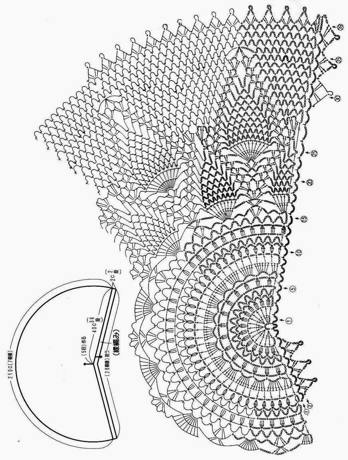 Source … Beautiful Lace Capelet | Crochet Esquemas | Pinterest ...