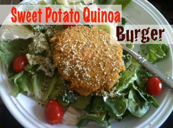 Sweet Potato Quinoa Burgers Healthy & Delicious! Great as a burger pattie, over salad or on its own. #burgers #health #vegetarian #food    wholesumstart.com