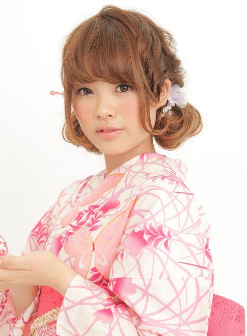 ゆるふわツインテール  卒業式・浴衣・和服☆大人可愛い着物ヘアアレンジ