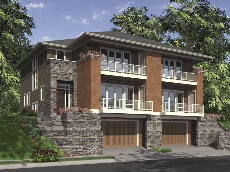 Contemporary-Modern House Plan with 2861 Square Feet and 3 ...