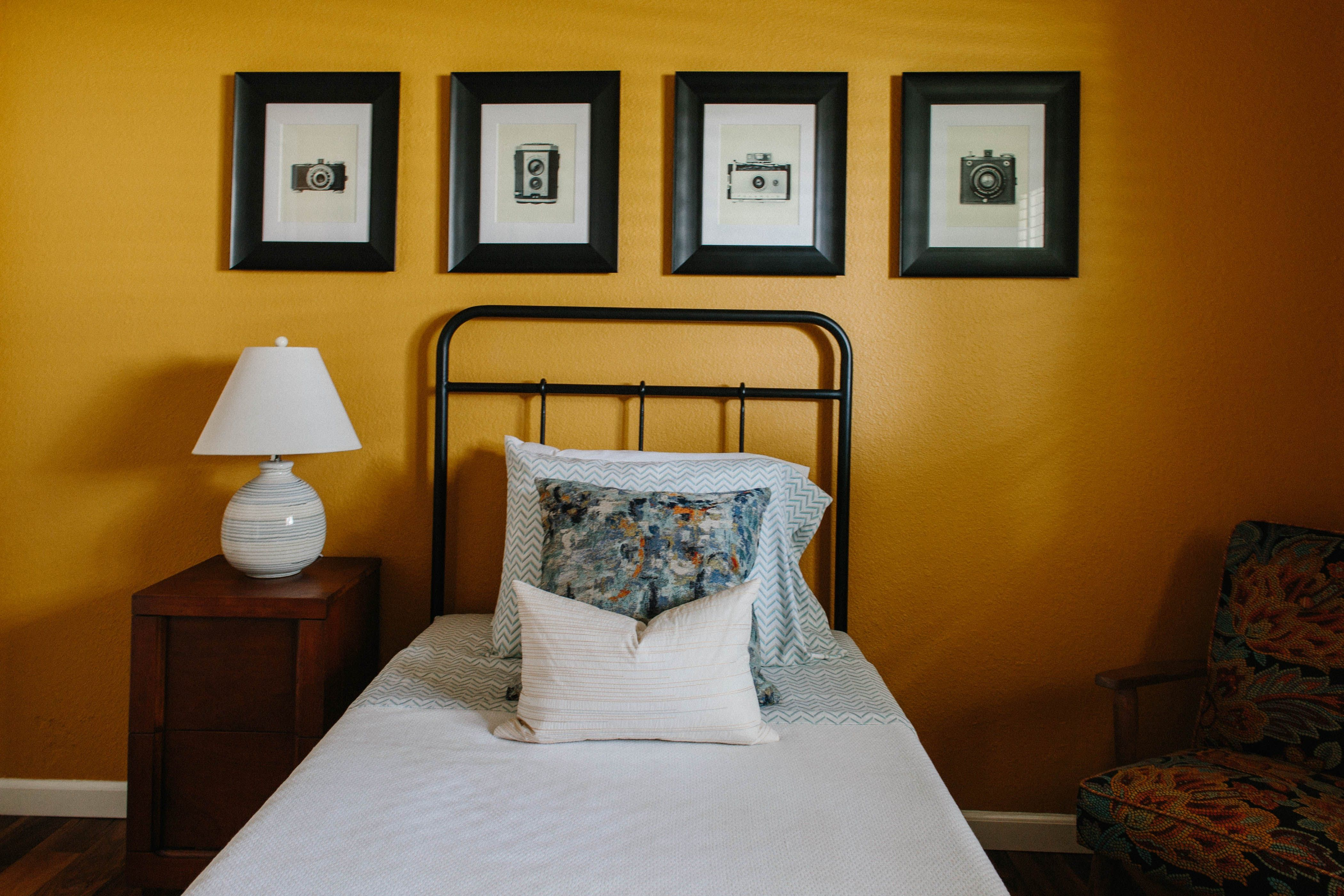 The Second Guest Bedroom Is Painted In Benjamin Moore S Maple Sugar
