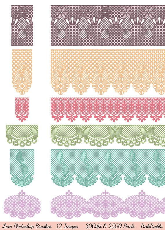 Lace shop Brushes Lace Borders shop Brushes