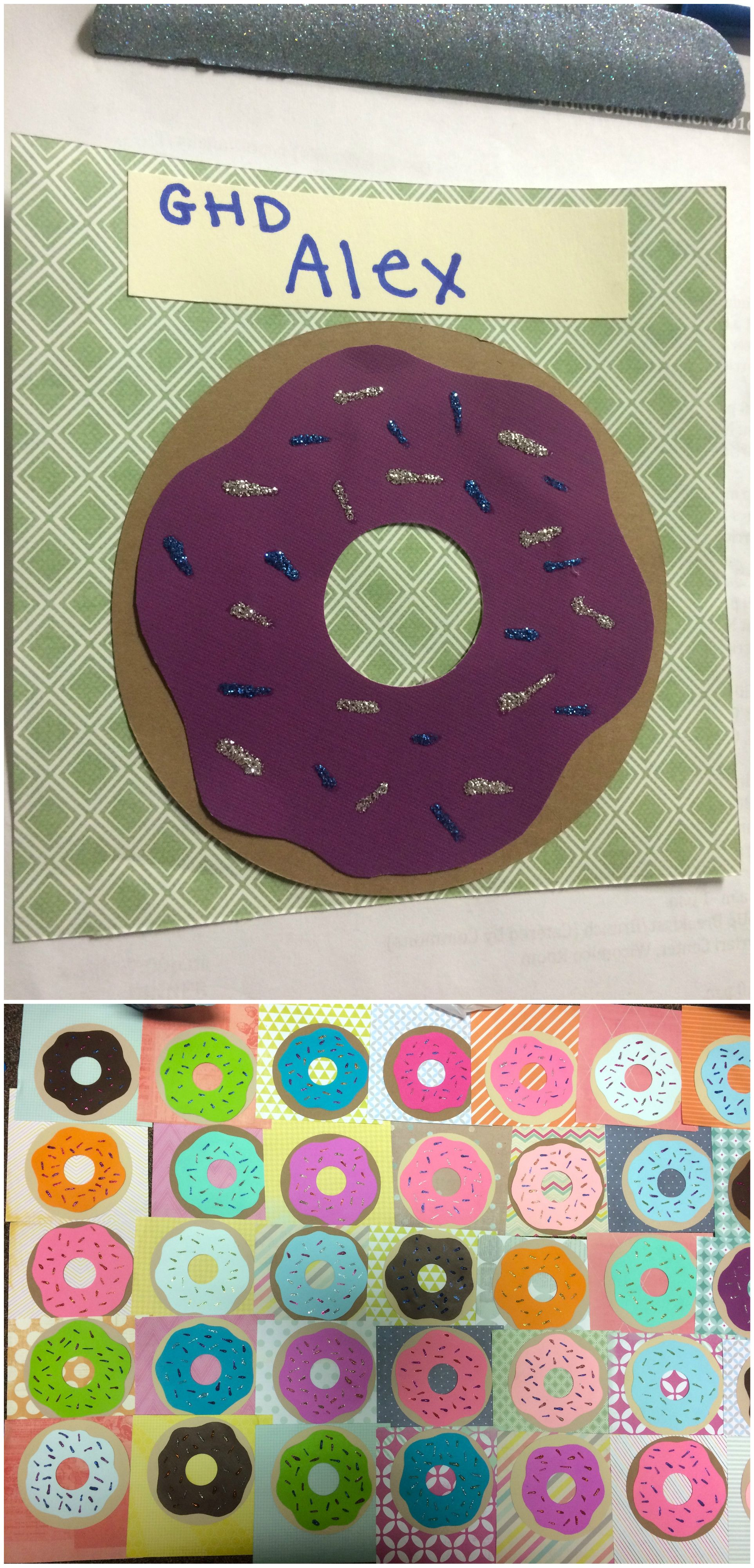 RA CA res life door decs name tags donuts donut : door decs templates - pezcame.com