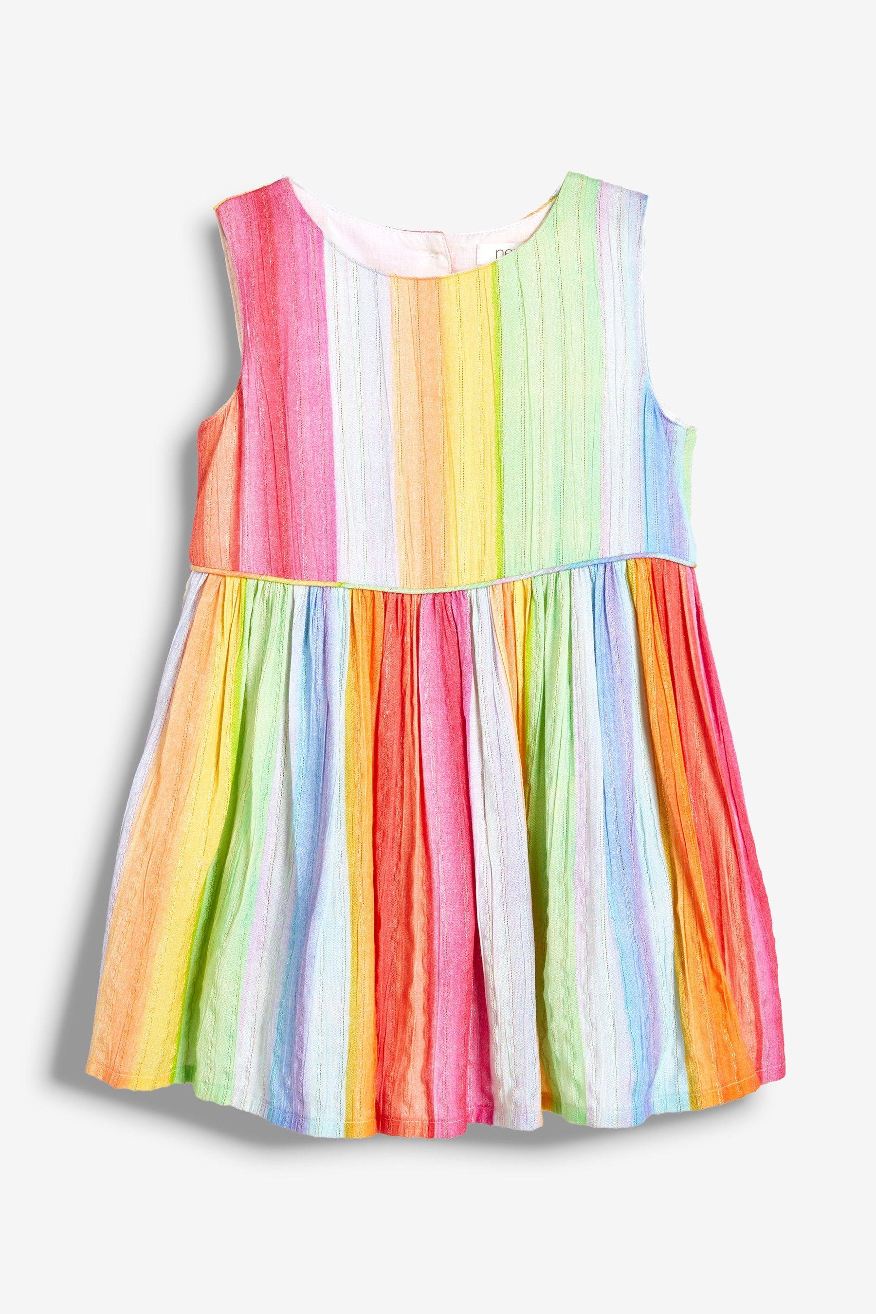 1d1a8e7f732ad Girls Next Multi Rainbow Stripe Dress (3mths-7yrs) - Pink in 2019 ...