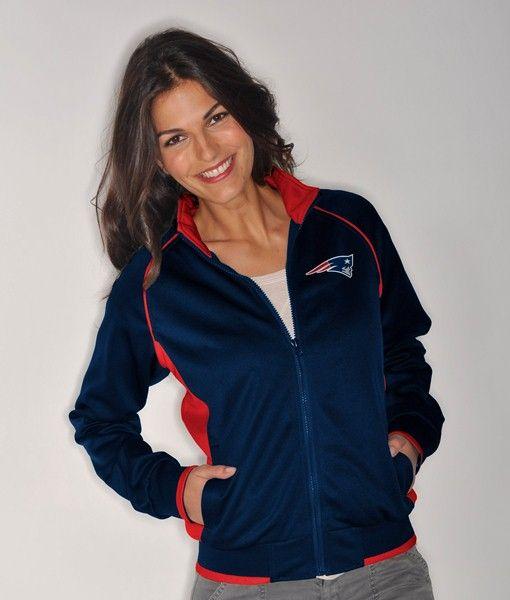 New England Patriots Women s NFL Medalist Full Zip Team Color Track Jacket 2b4f9b3036