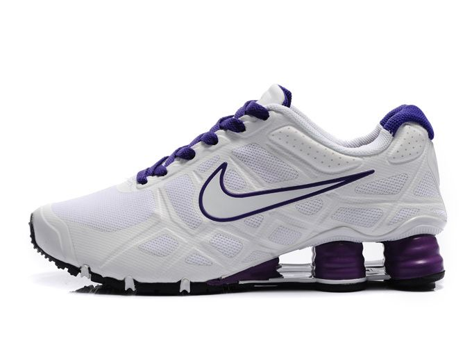 brand new e0d72 8c704 Nike Shox -Turbo12 Women White-Purple Shoes Nike Shox Turbo 12 running shoe  utilize lightweight and breathable materials that create Customized comfort  for ...