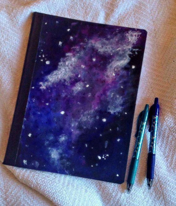 Hand Painted Galaxy Notebook By Onenorthstars On Etsy Coisas De