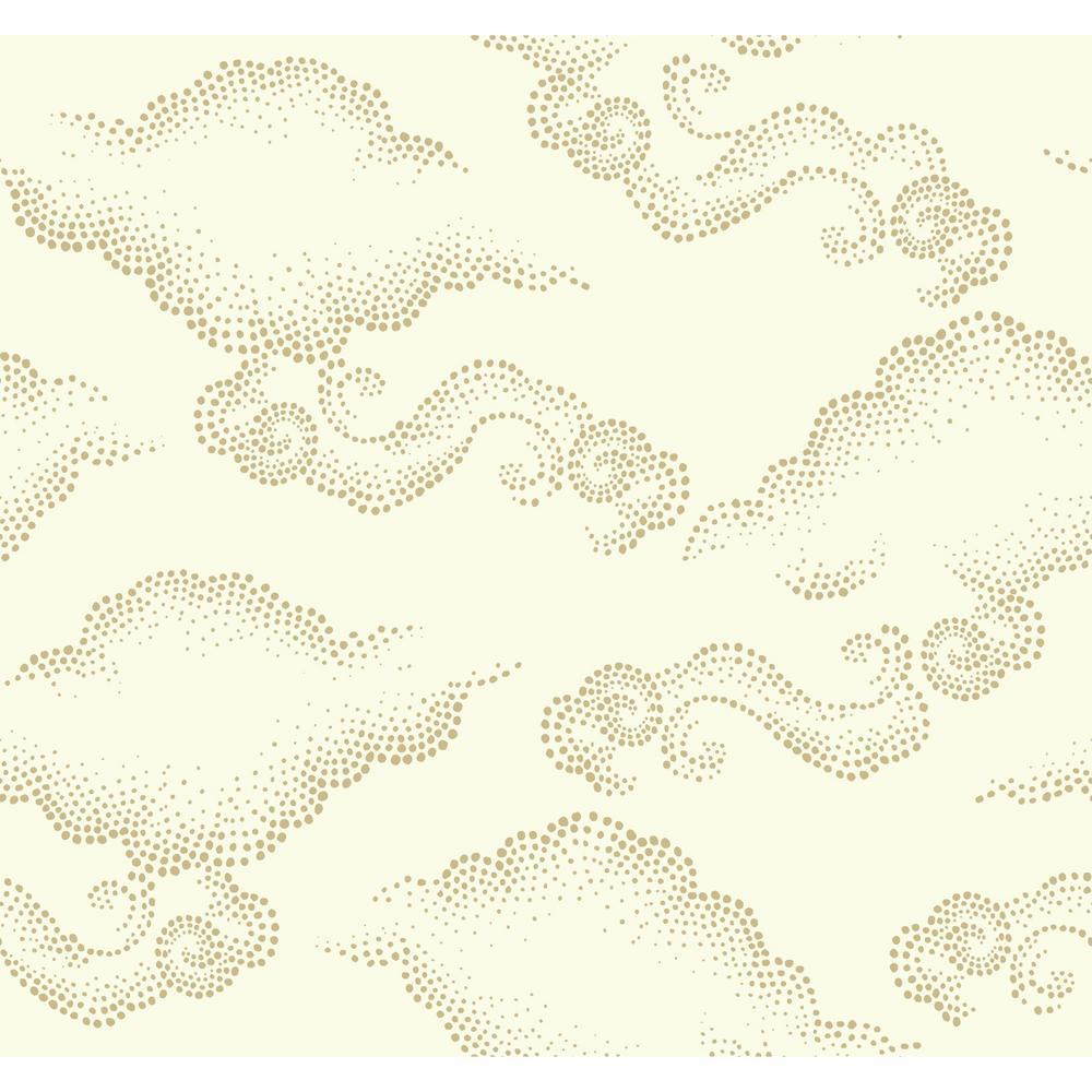 York Wallcoverings Dwellstudio Cloudburst Wallpaper Ivory