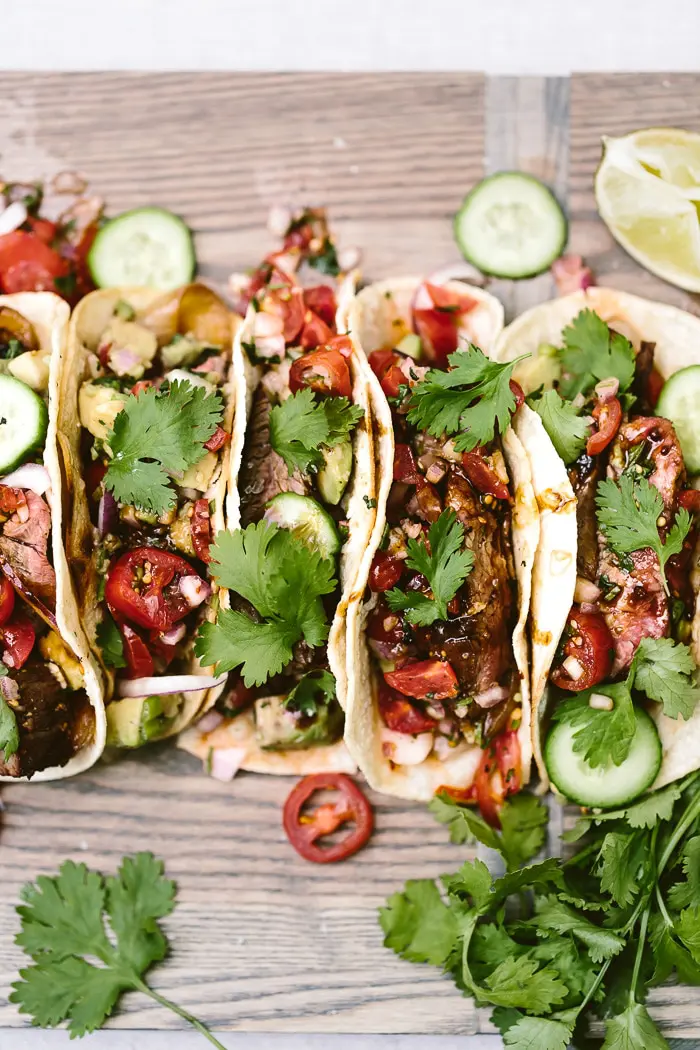 Grilled Flank Steak Tacos - Foolproof Living