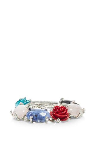 Semi Precious And Resin Rose Bracelet by OSCAR DE LA RENTA for Preorder on Moda Operandi