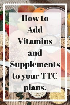 Part of an overall healthy #TTC lifestyle is making sure you're getting the vitamins and nutrients necessary to help your body function optimally for getting pregnant.