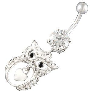 Owl Belly button ring. adorable. shopping-is-my-most-dangerous-hobby