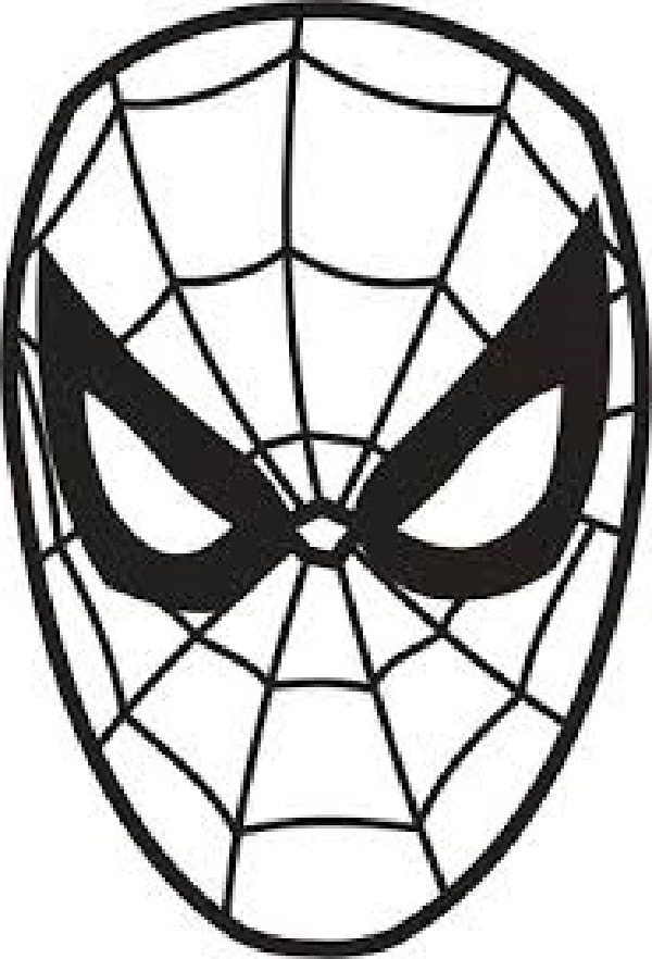 The Black And White Face Sketch Of Spider Man In 2020 Spiderman Face Spiderman Spiderman Cake