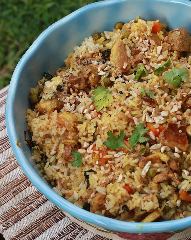 The secret to good biryani is to cook everything in as little liquid as possible so that the meat, rice and vegetables practically cook in their own juices.