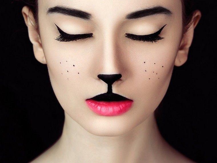 maquillage chat halloween en 20 id es facile r aliser et super mignon rouge l vre. Black Bedroom Furniture Sets. Home Design Ideas
