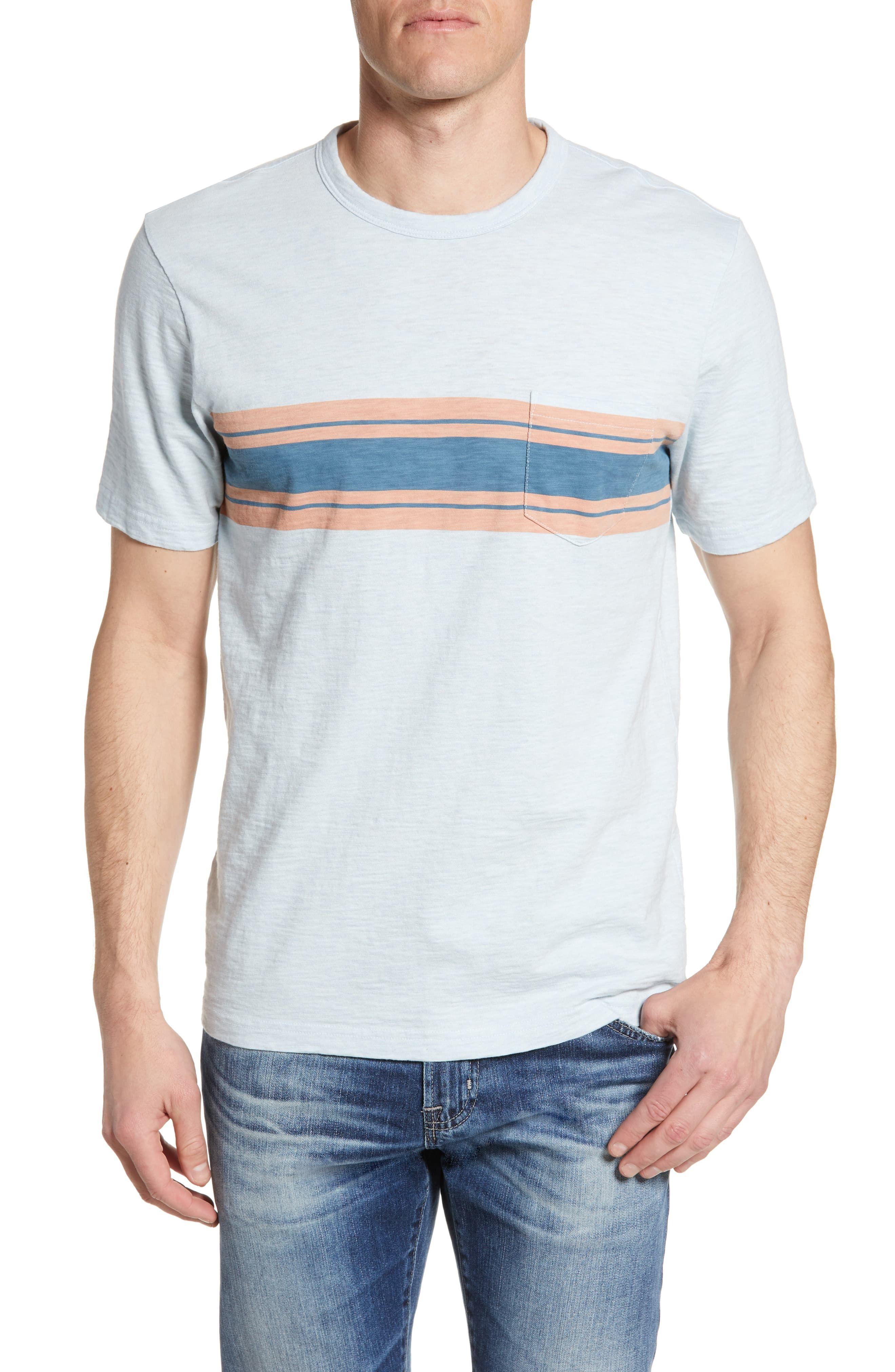 1b419286f3 Faherty Surf Stripe Pocket T-Shirt in 2019 | Products | T shirt, Cut ...