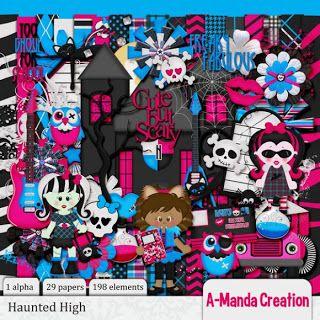 Haunted High digital scrap kit
