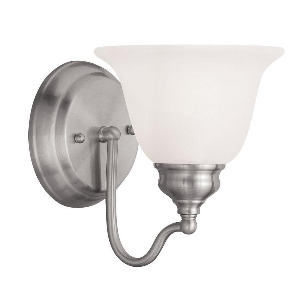Photo of Livex Lighting Providence 1-light basin lamp in polished brass 1351-02 – The Home Depot