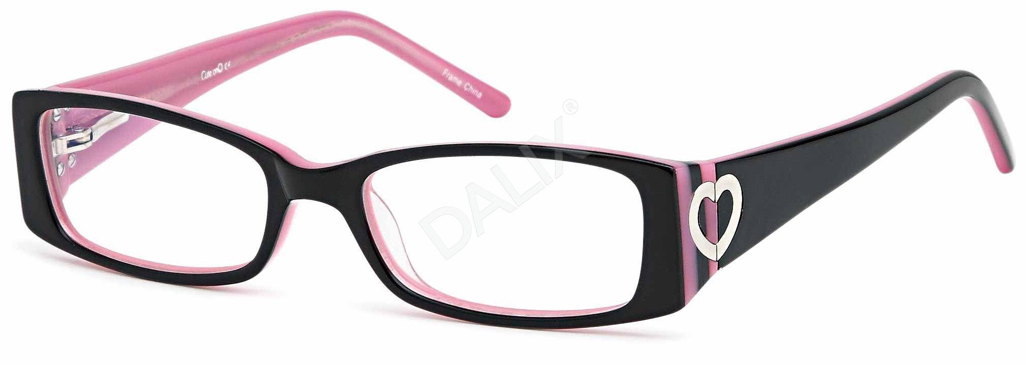 DALIX Childrens Cute Girls Hearts Glasses Frames Black Kids ...