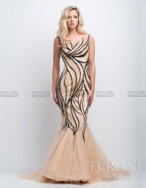 d344719b4 Vestido de Festa Longo Sereia com Bordados Terani 151GL0326A : Dstore, As  Melhores Grifes dos EUA - Site Oficial