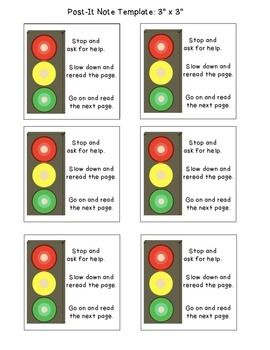 Stop Light Sticky Note Template  Notes Template Independent