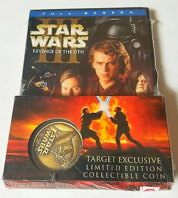 New Star Wars Episode Iii Revenge Of The Sith Dvd Target Exclusive Coin Movie Star Wars Episodes Star Wars New Star Wars