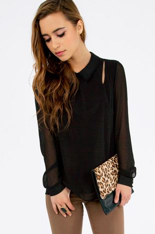 Chic Slit Blouse at www.tobi.com
