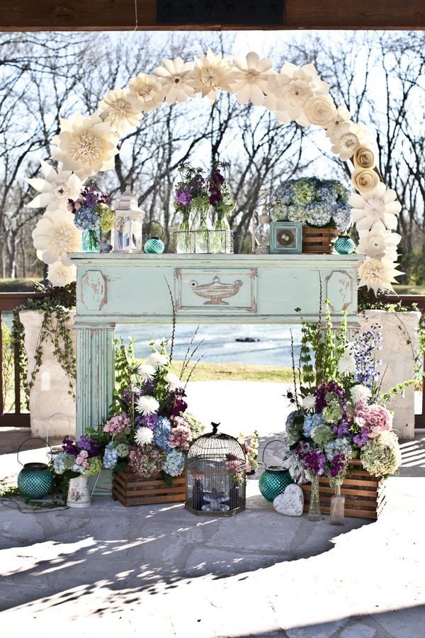 Eclectic spring wedding in brookshire texas wedding ceremony ceremony decor httpweddingchicks20130918eclectic spring wedding junglespirit Gallery