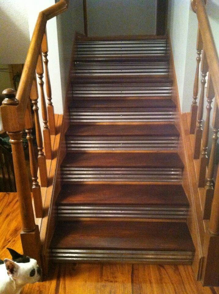 Best Metal Stairs Basement Remodeling Corrugated Metal New 400 x 300