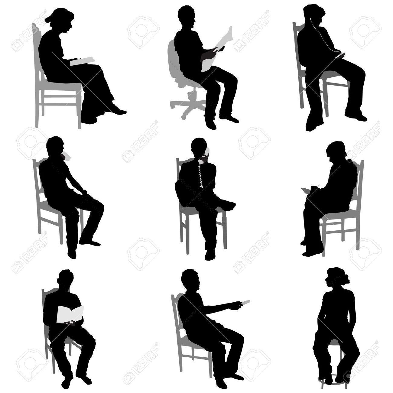 Risultati immagini per sagoma persona seduta