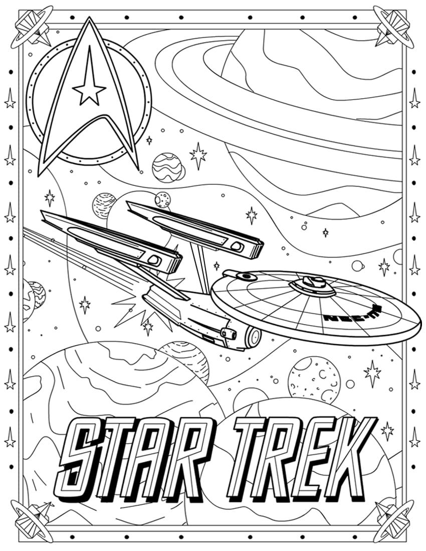 Star Trek Coloring Pages Coloring Pages Coloring Pages
