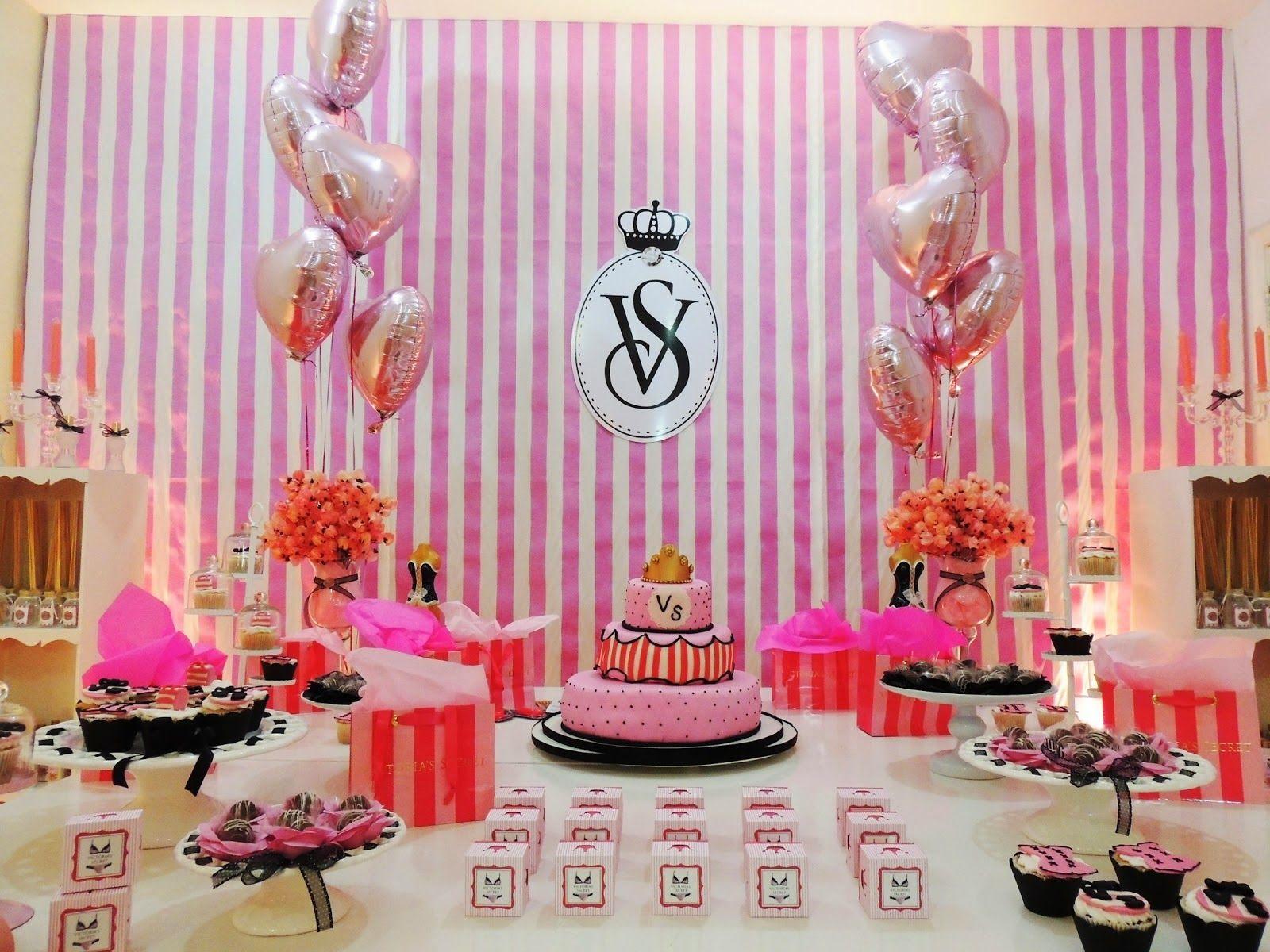Google themes pink and black - Festa Com Tema Victoria Secrets Pesquisa Google