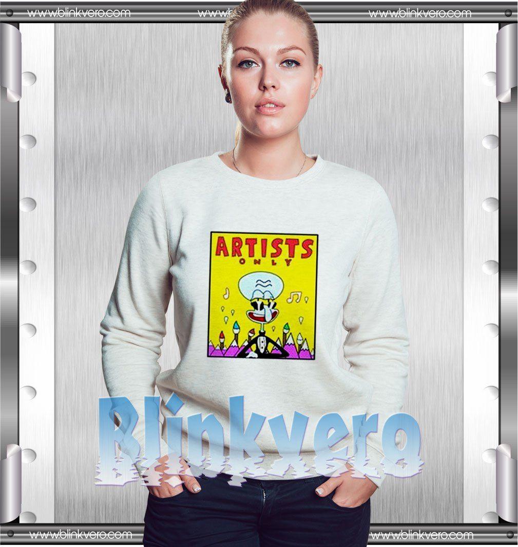0268ec7c5a94 Artist only squidward sweatshirt | Sweatshirts | Sweatshirts, Mens ...