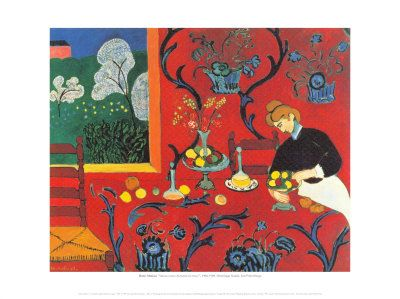Red Bedroom Plakater af Henri Matisse