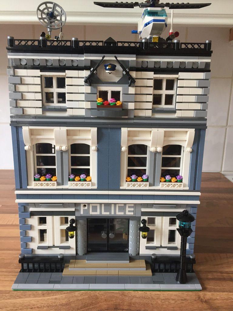 Lego Modular Police Station Lego Modular Lego Architecture Building Lego House