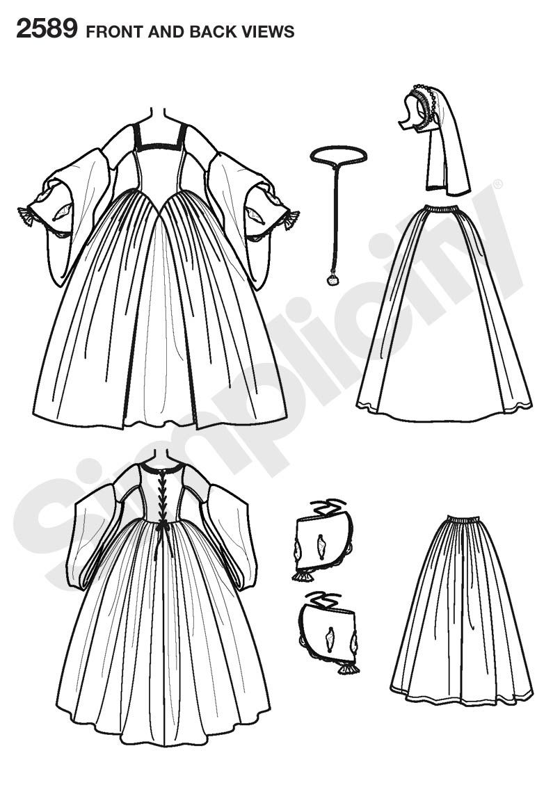 Gallery For > Medieval Clothing Pattern | Sewing | Pinterest ...