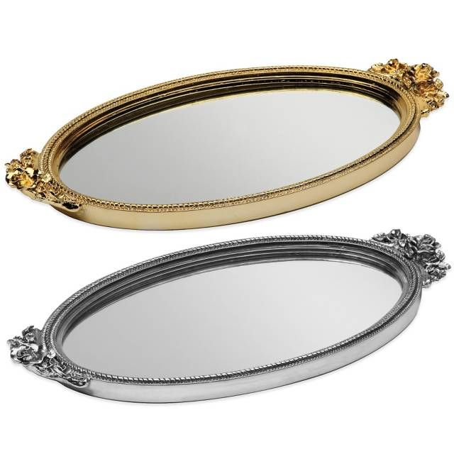 Product Image For Taymor Antique Rose Resin Mirror Vanity Tray In