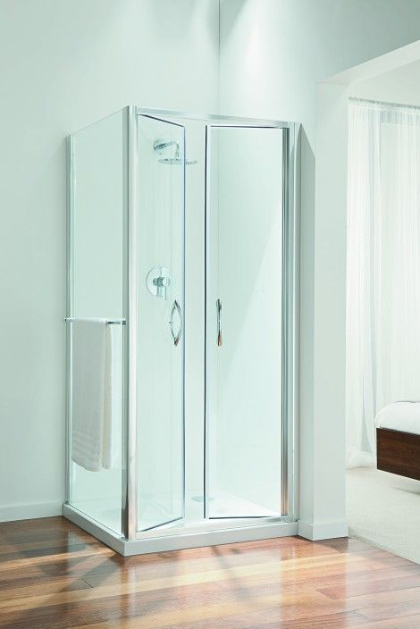 High Quality Chrome 1900mm 6mm TSG Double Pivot Shower Door