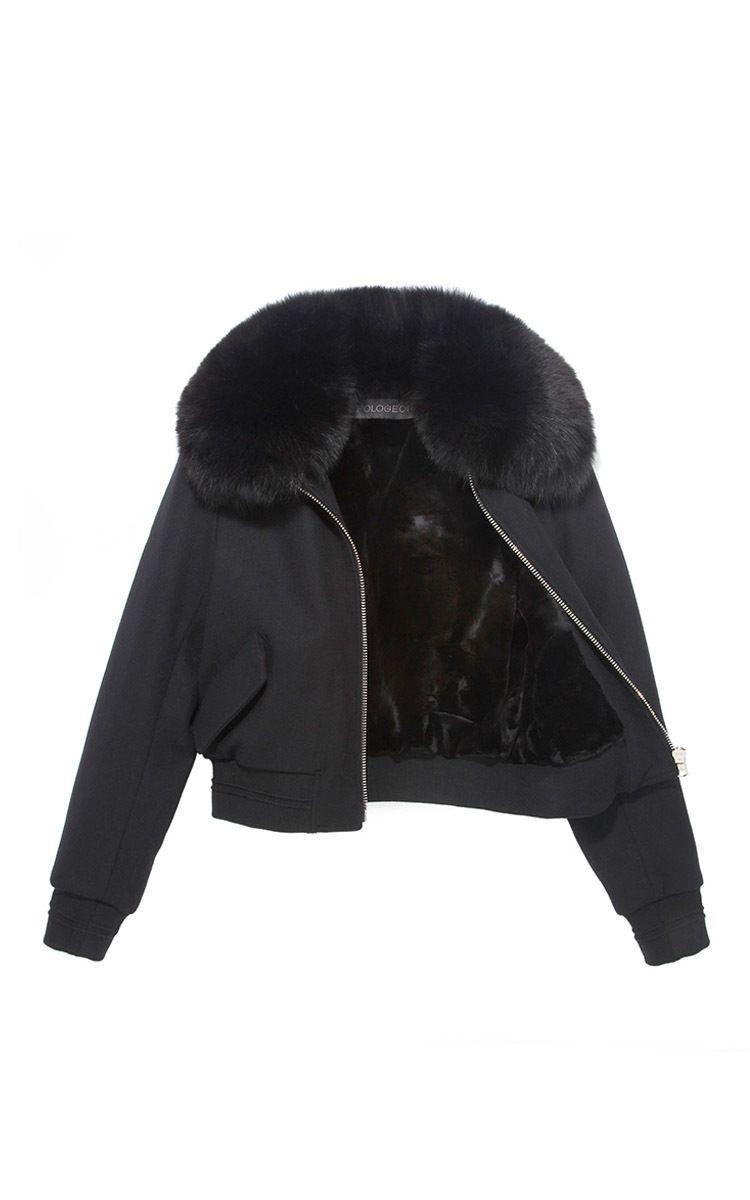 The All Fur Love Bomber Jacket by POLOGEORGIS for Preorder on Moda Operandi
