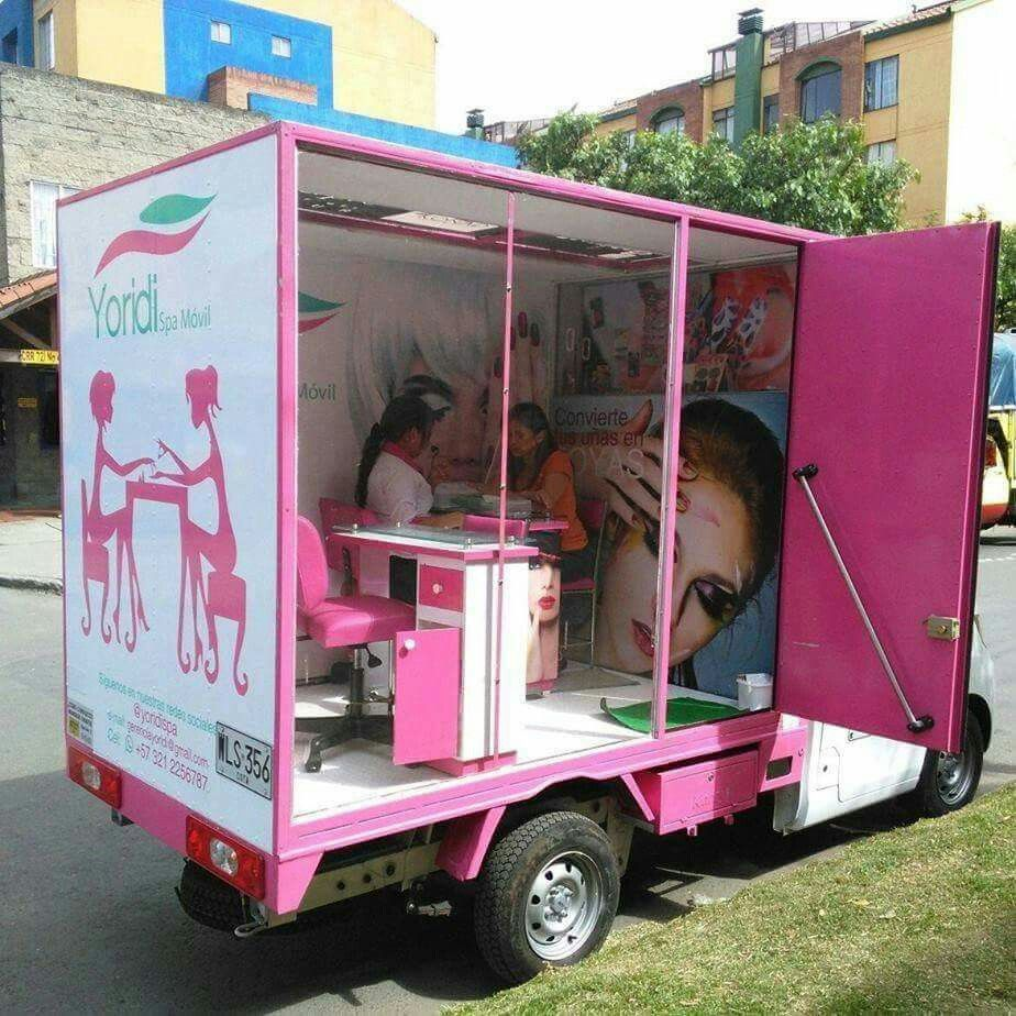 Box Truck Business Pinterest Box Salons And Nail Salons # Muebles Janine Bogota