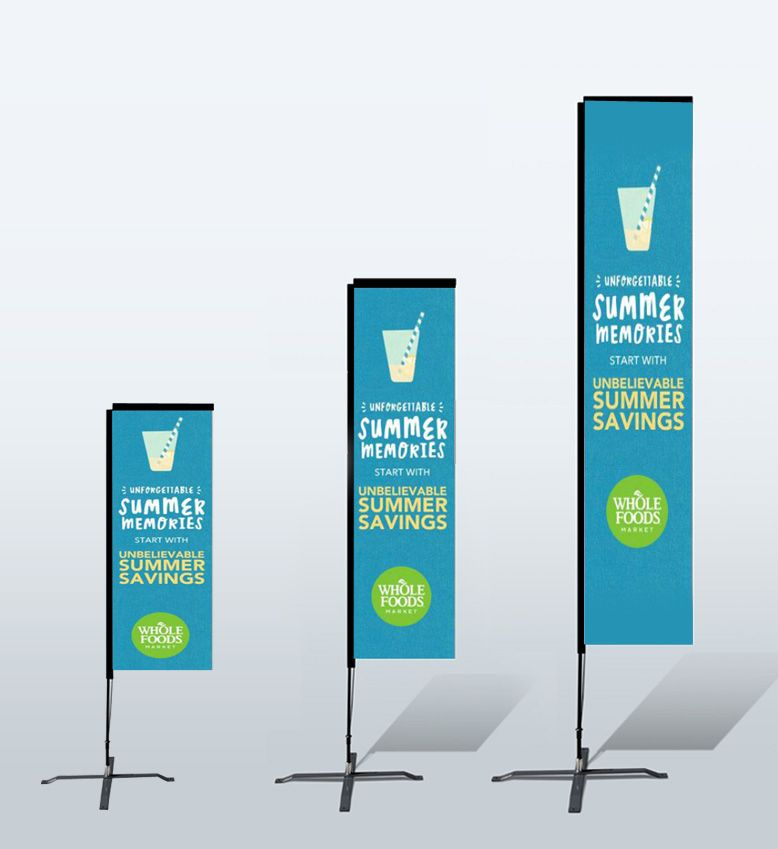 Teardrop Flag Banners For Outdoor Trade Shows Toronto Company Banner Banner Printing Trade Show Display