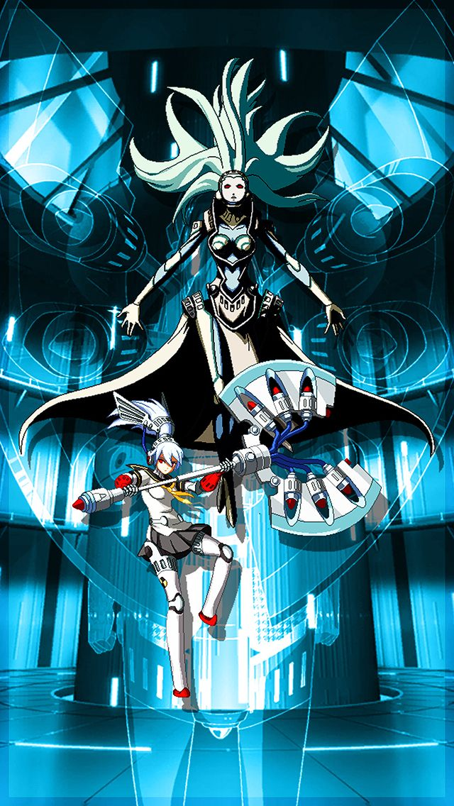 Labrys Persona 4 Arena iOS Wallpaper by seraharcana on