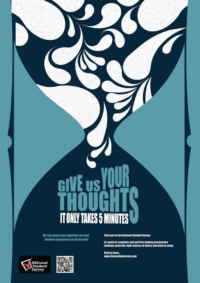 Poster design for students - National Student Survey Poster Design