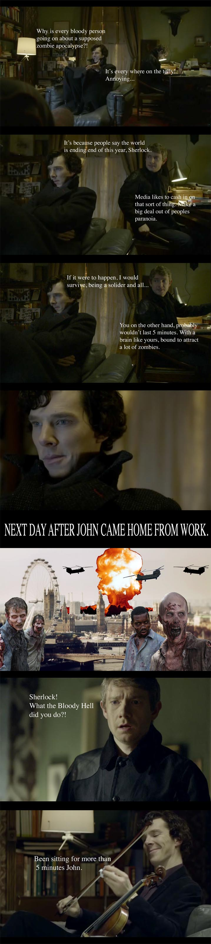 Yes I Think I Could See Sherlock Starting The Zombie Apocalypse