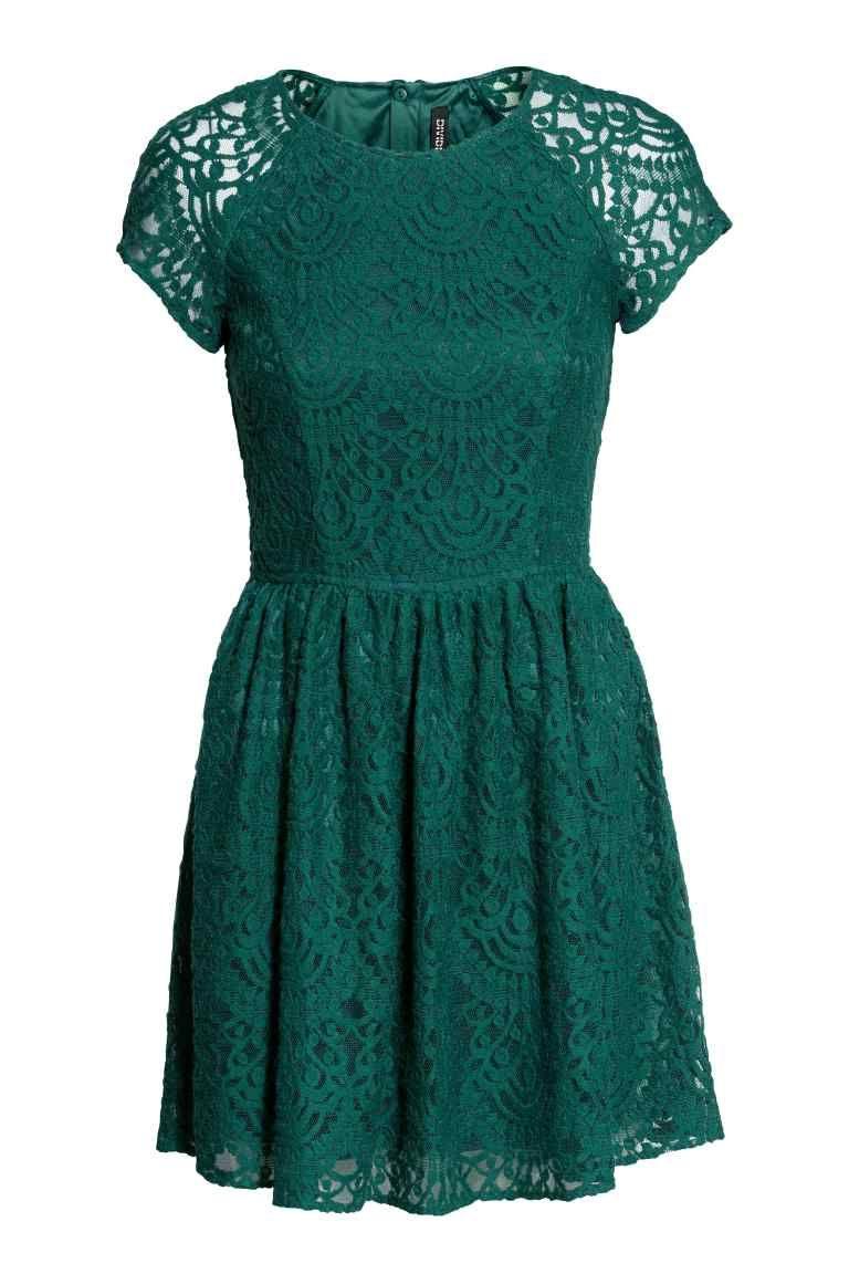 best service b28e1 9955b Vestido de encaje | H&M | Vestidos | Abiti di pizzo verde ...