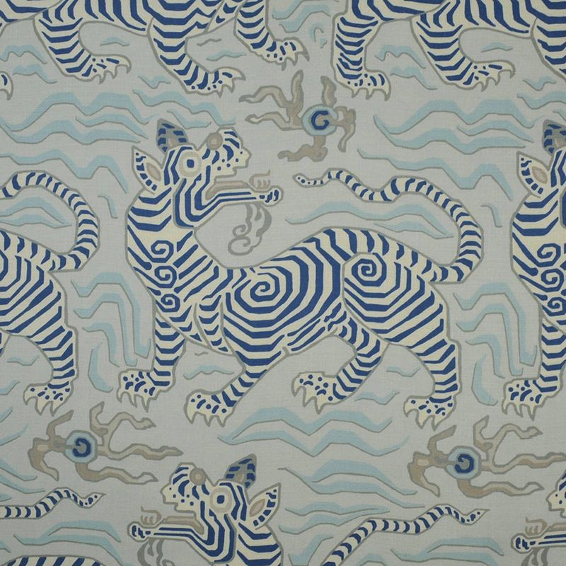 347061 Tibet Print Pale Blue1 Clarence House Fabric