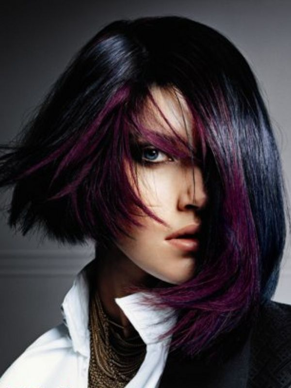 Violet stripes! ZigiZtyle: Color My World of Hair